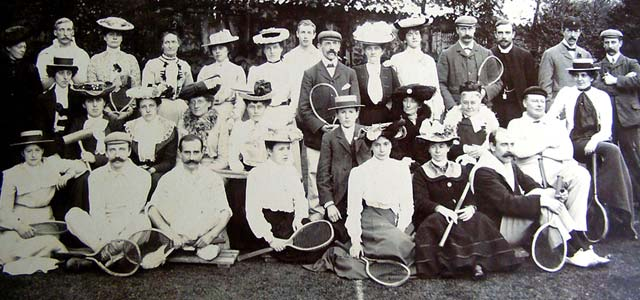 The Aughton Lawn Tennis Club Members circa 1909.